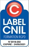 Logo Label CNIL Formation RGPD