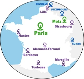 Carte France Localisation Ageris Group