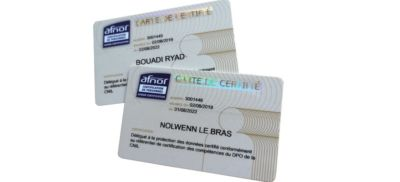 Carte de Certification AFNOR RBO NLE