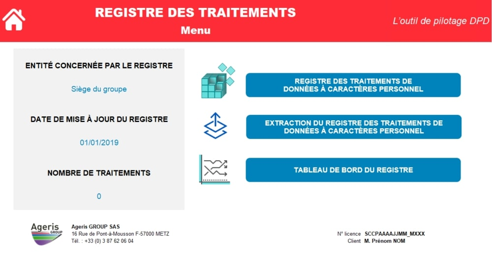 Privacy Expert Registre des traitements